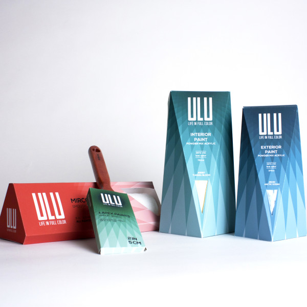 Ulu Powdered Paints Packaging and Identity