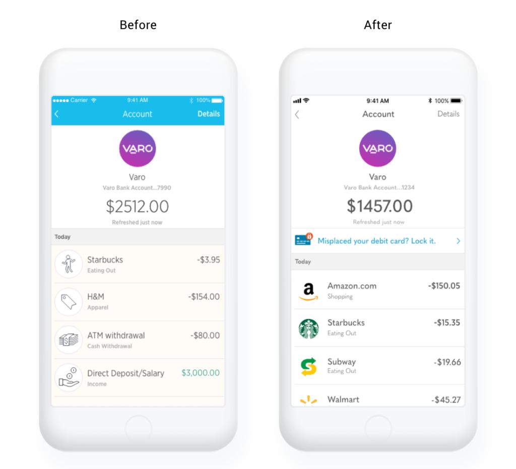 Varo Money App Refresh — Jana Heyer MFA PortfolioJana Heyer